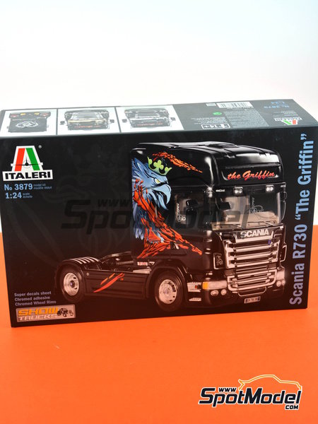 Scania R730 | Model truck kit in 1/24 scale manufactured by Italeri (ref. 3879) image