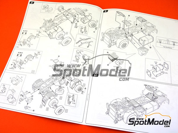 Image 10: Scania R730 | Model truck kit in 1/24 scale manufactured by Italeri (ref.3879)