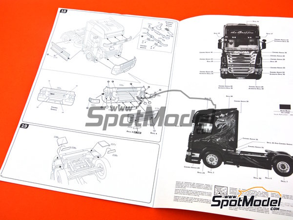Image 12: Scania R730 | Model truck kit in 1/24 scale manufactured by Italeri (ref. 3879)