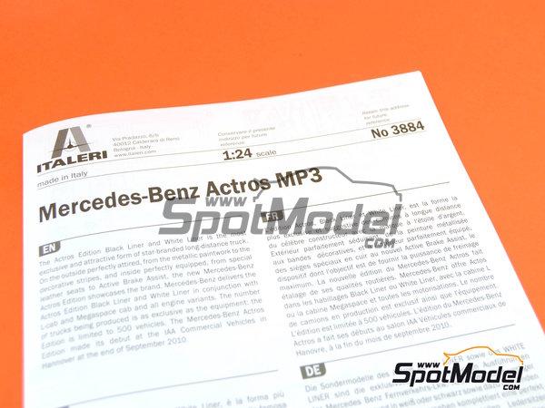 Image 10: Mercedes-Benz Actros MP3 | Maqueta de camión en escala1/24 fabricado por Italeri (ref.3884)