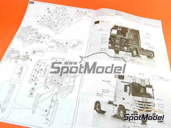 Image 15: Mercedes-Benz Actros MP3 | Maqueta de camión en escala1/24 fabricado por Italeri (ref.3884)