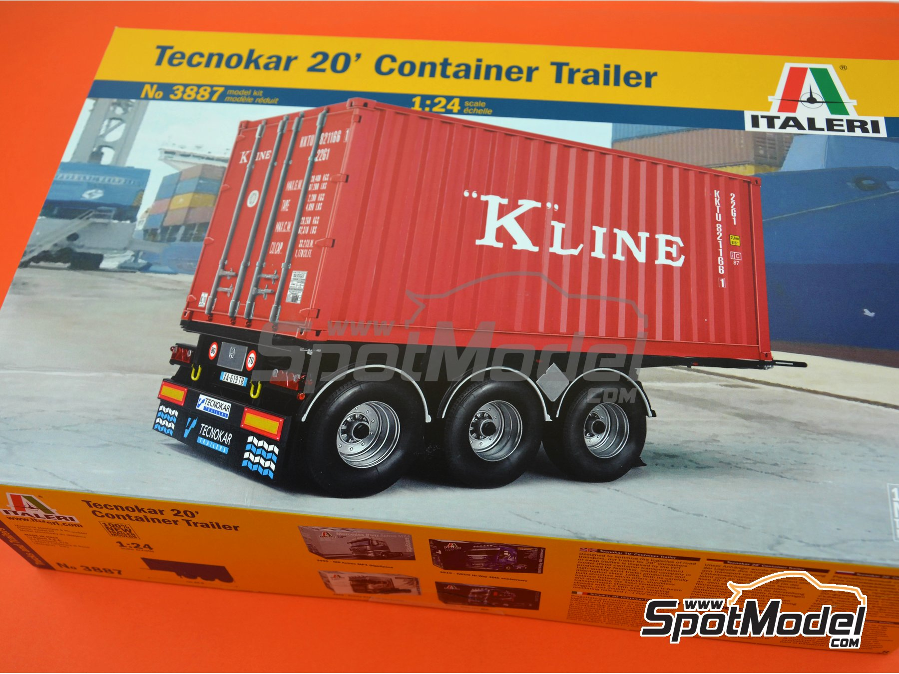 Image 11: Tecnokar 20' container trailer | Trailer kit in 1/24 scale manufactured by Italeri (ref. 3887)