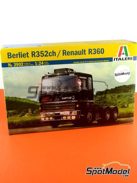 Berliet R352ch / Renault R360   Model truck kit in 1/24 scale manufactured by Italeri (ref.3902) image
