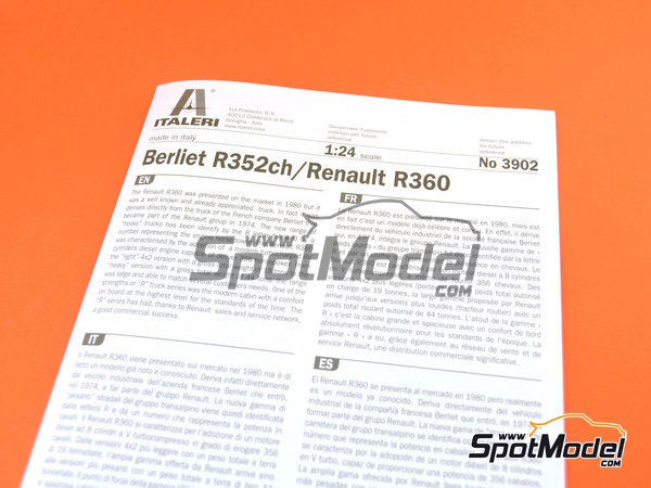 Image 10: Berliet R352ch / Renault R360   Model truck kit in 1/24 scale manufactured by Italeri (ref.3902)