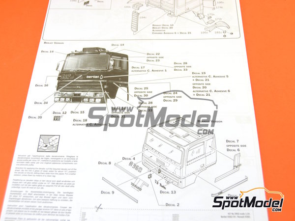 Image 15: Berliet R352ch / Renault R360   Model truck kit in 1/24 scale manufactured by Italeri (ref.3902)