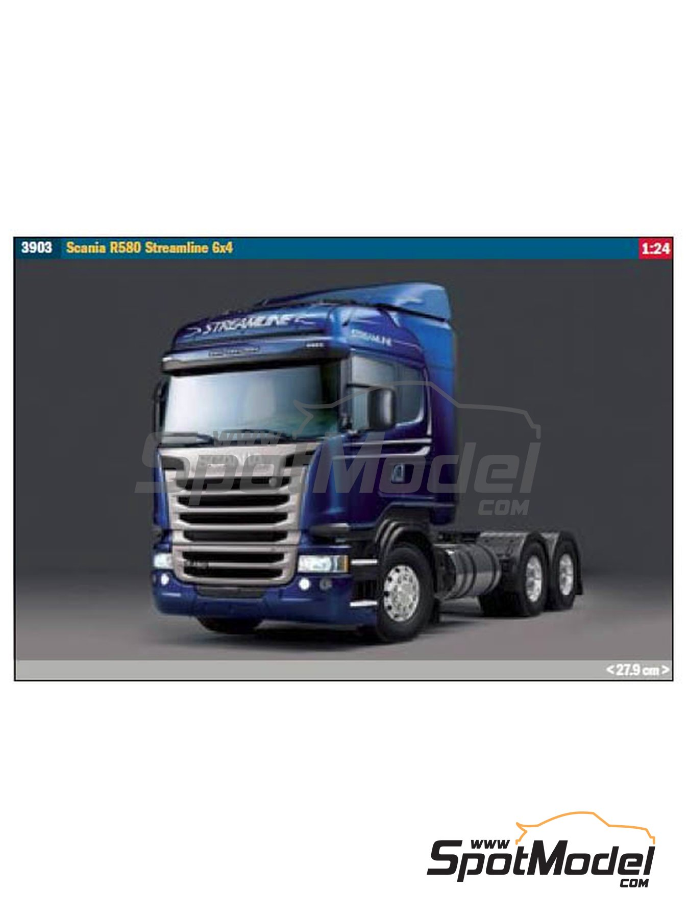 Scania R580 Steamline 6x4   Model truck kit in 1/24 scale manufactured by Italeri (ref.3903) image