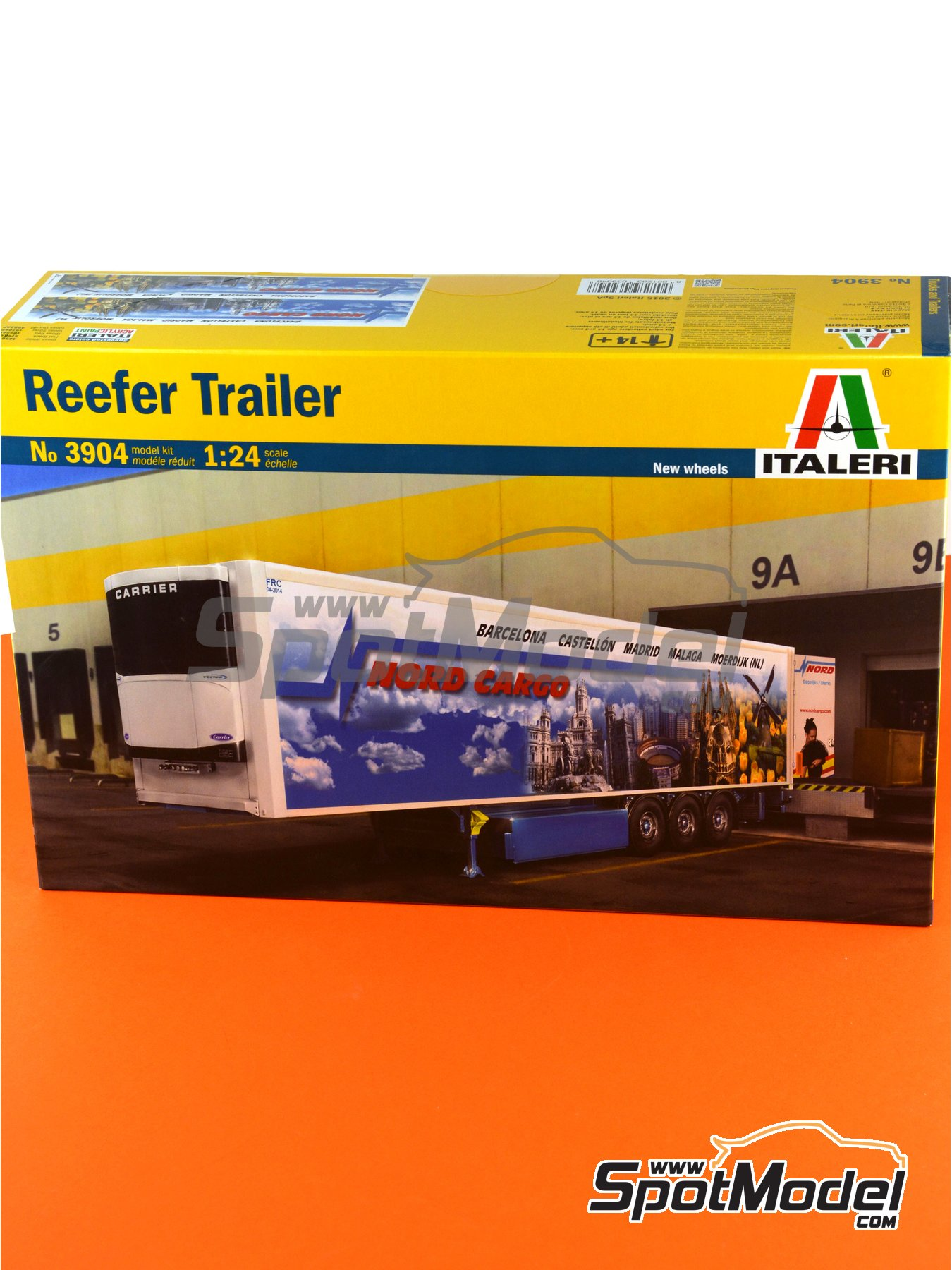 Reefer trailer | Model truck kit in 1/24 scale manufactured by Italeri (ref.3904) image