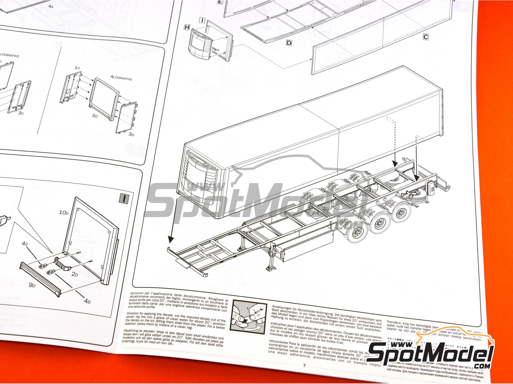 Image 13: Reefer trailer | Model truck kit in 1/24 scale manufactured by Italeri (ref.3904)