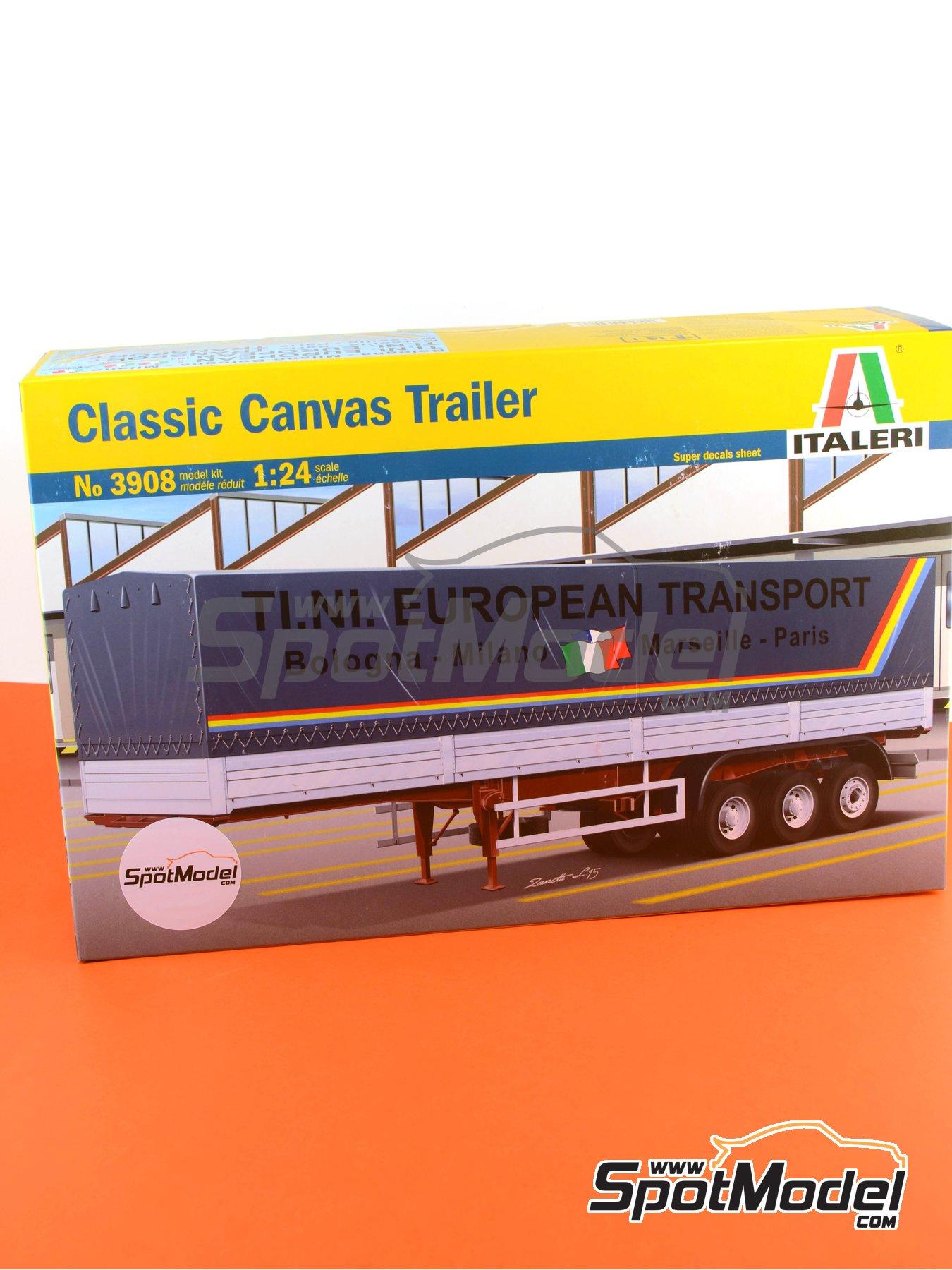 Trailer clásico con lona | Maqueta de remolque en escala1/24 fabricado por Italeri (ref.3908) image