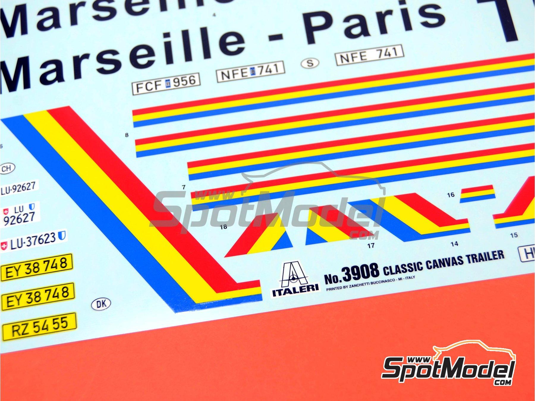 Image 5: Trailer clásico con lona | Maqueta de remolque en escala1/24 fabricado por Italeri (ref.3908)