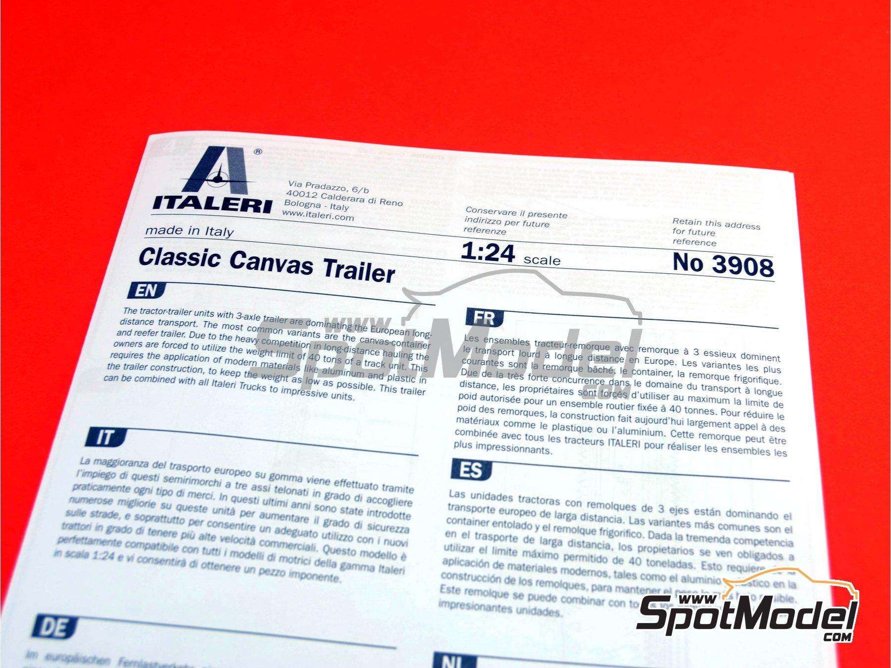 Image 14: Trailer clásico con lona | Maqueta de remolque en escala1/24 fabricado por Italeri (ref.3908)