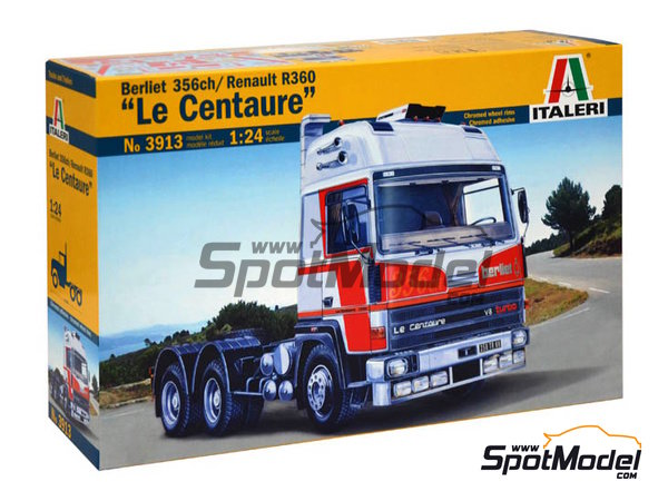 Image 1: Berliet 356ch / Renault R360 Le Centaure subir | Model truck kit in 1/24 scale manufactured by Italeri (ref. 3913)