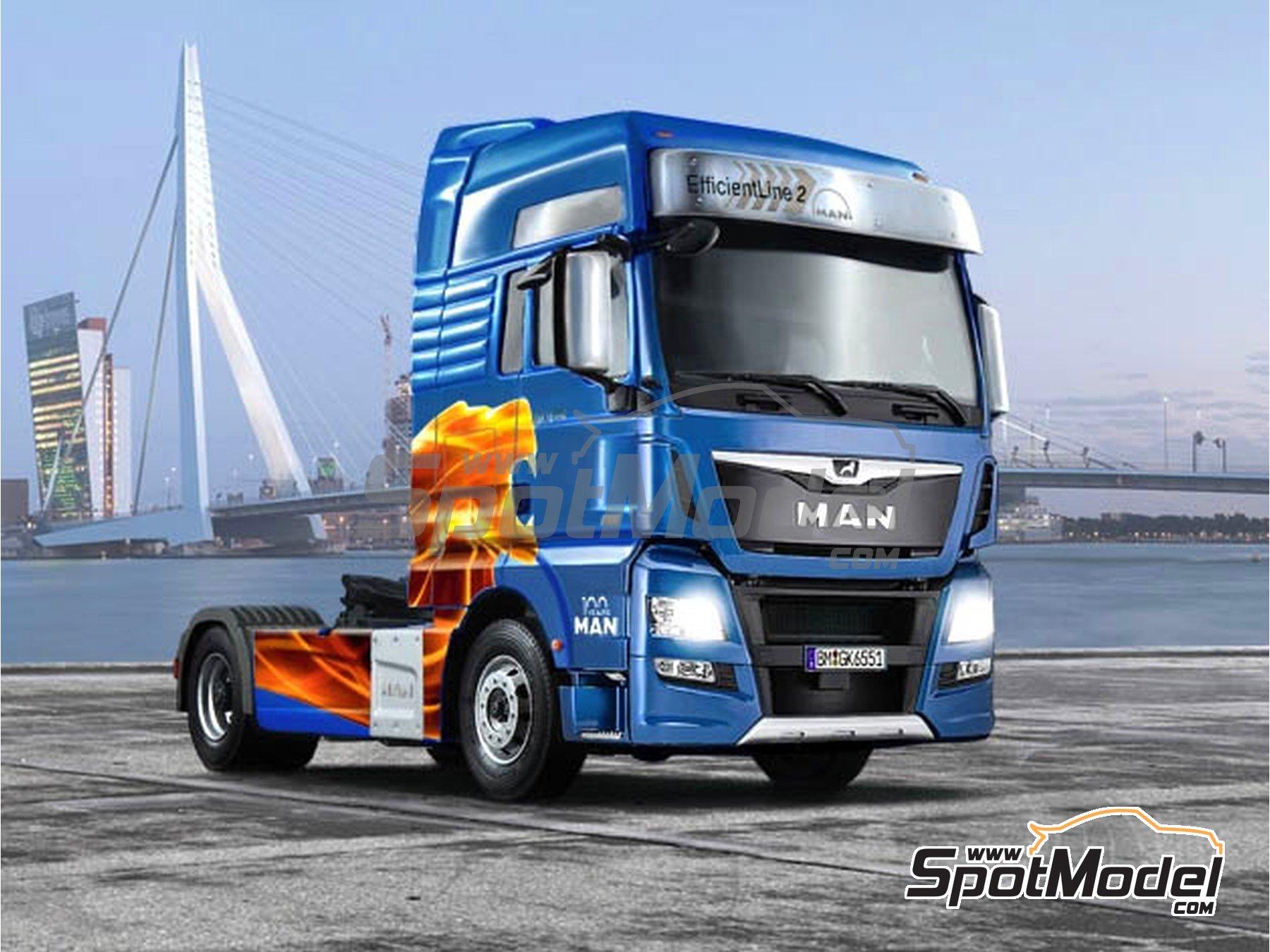 Image 1: Man TGX XXL Euro 6 | Maqueta de camión en escala1/24 fabricado por Italeri (ref.3916)