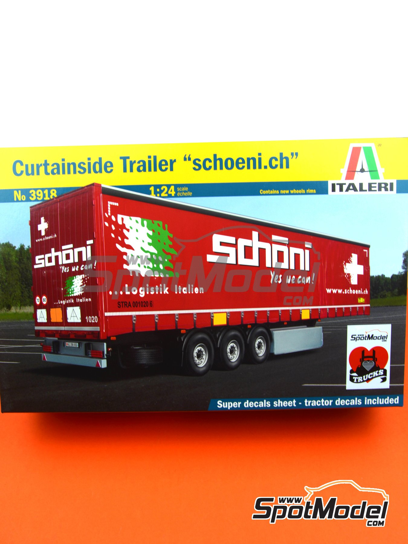 Curtainside Trailer | Model truck kit in 1/24 scale manufactured by Italeri (ref. 3918) image