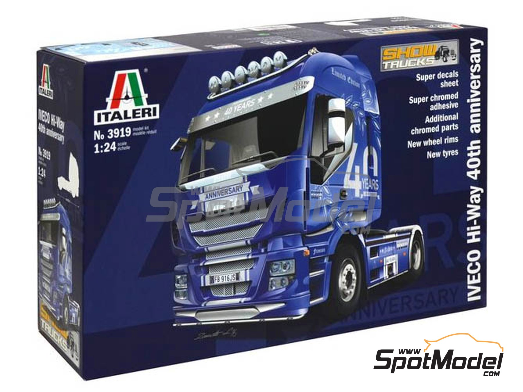 Image 1: Iveco Stralis 560 Hi-Way | Model truck kit in 1/24 scale manufactured by Italeri (ref. 3919)