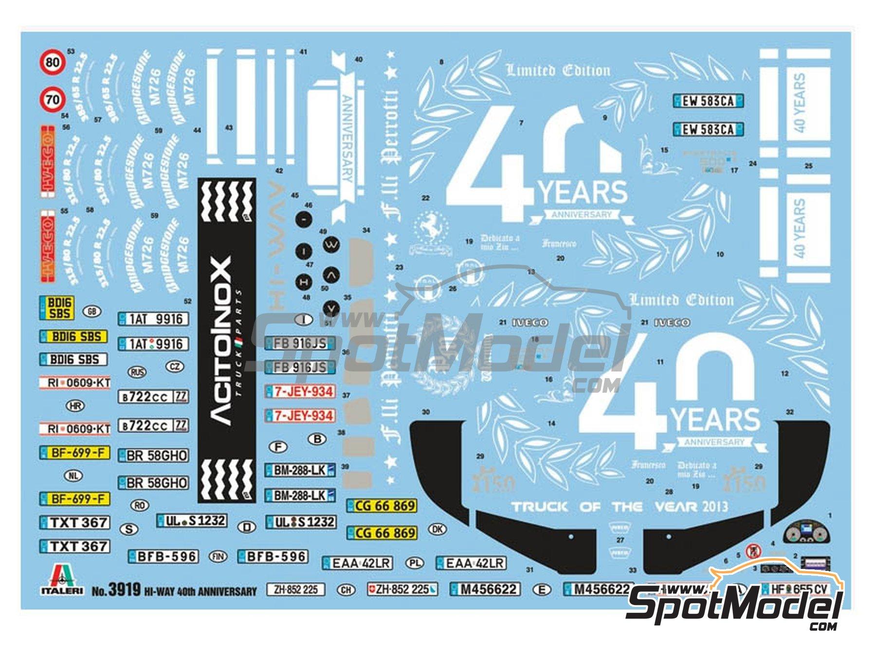 Image 2: Iveco Stralis 560 Hi-Way | Maqueta de camión en escala1/24 fabricado por Italeri (ref.3919)
