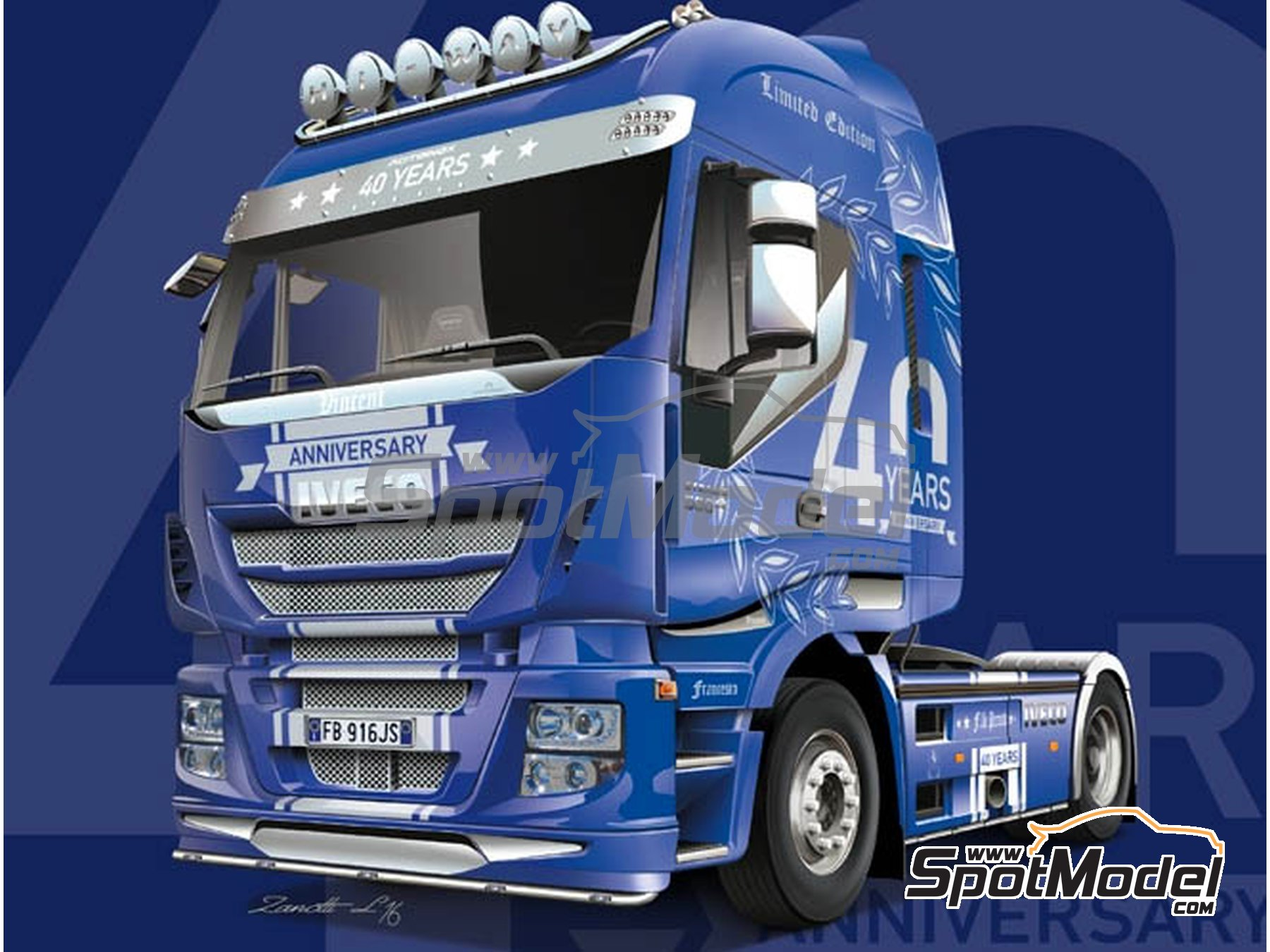 Image 15: Iveco Stralis 560 Hi-Way | Model truck kit in 1/24 scale manufactured by Italeri (ref.3919)