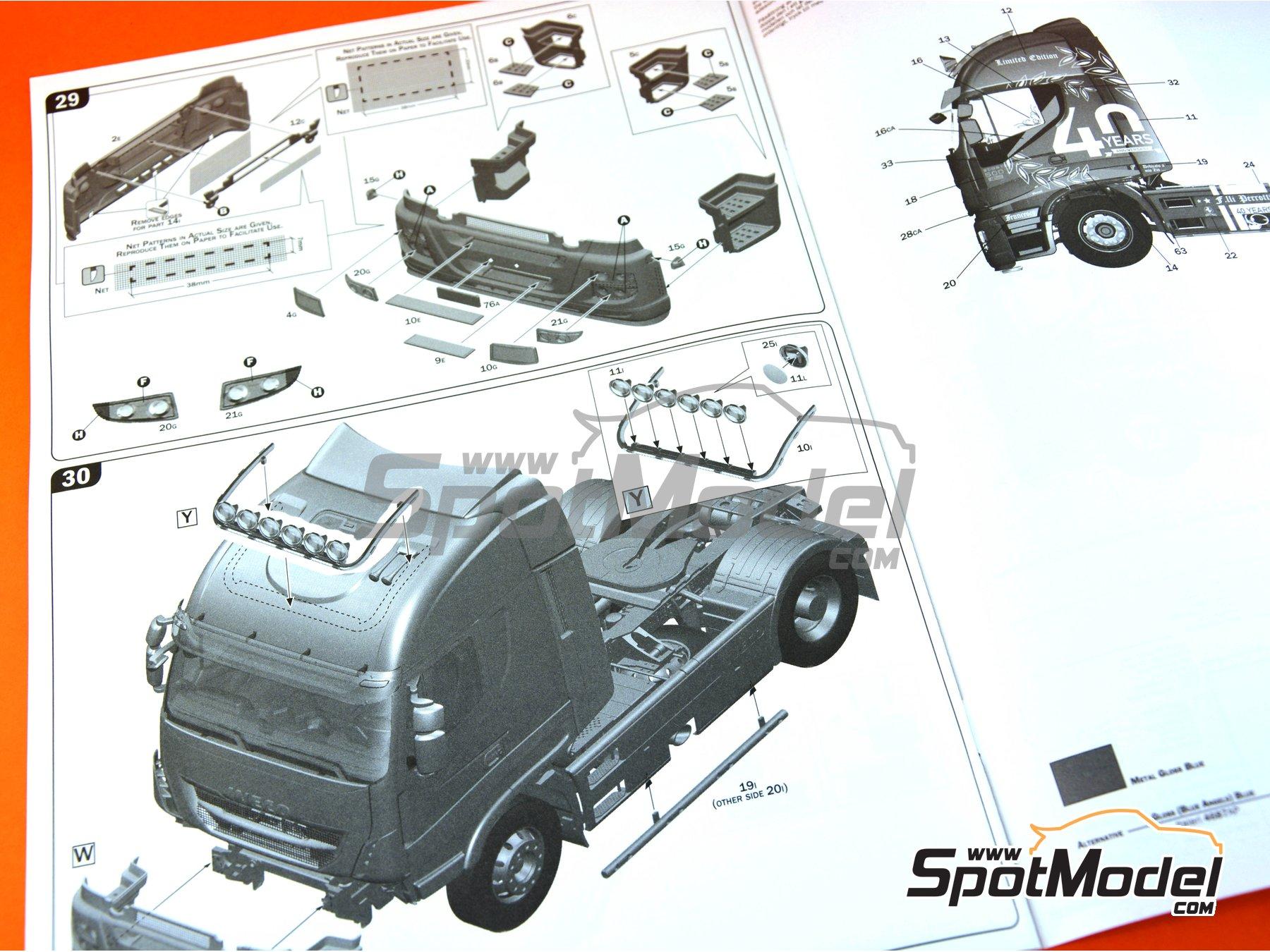 Image 30: Iveco Stralis 560 Hi-Way | Maqueta de camión en escala1/24 fabricado por Italeri (ref.3919)