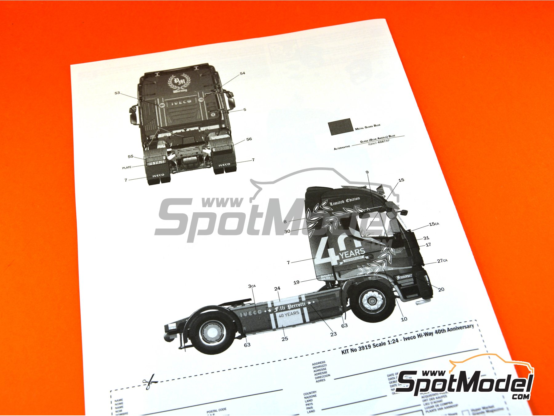 Image 31: Iveco Stralis 560 Hi-Way | Model truck kit in 1/24 scale manufactured by Italeri (ref.3919)