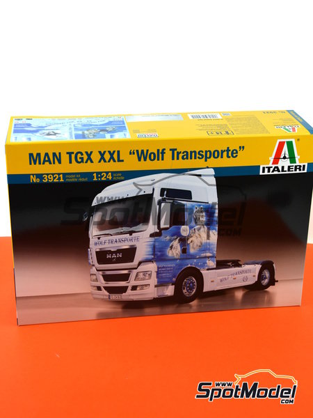 Man TGX XXL | Model truck kit in 1/24 scale manufactured by Italeri (ref. 3921) image