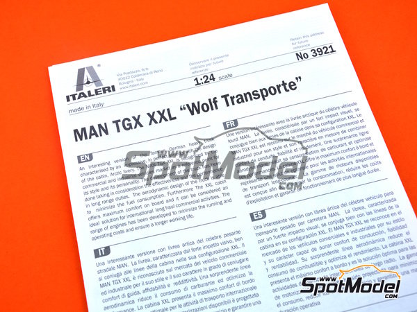 Image 7: Man TGX XXL | Model truck kit in 1/24 scale manufactured by Italeri (ref. 3921)