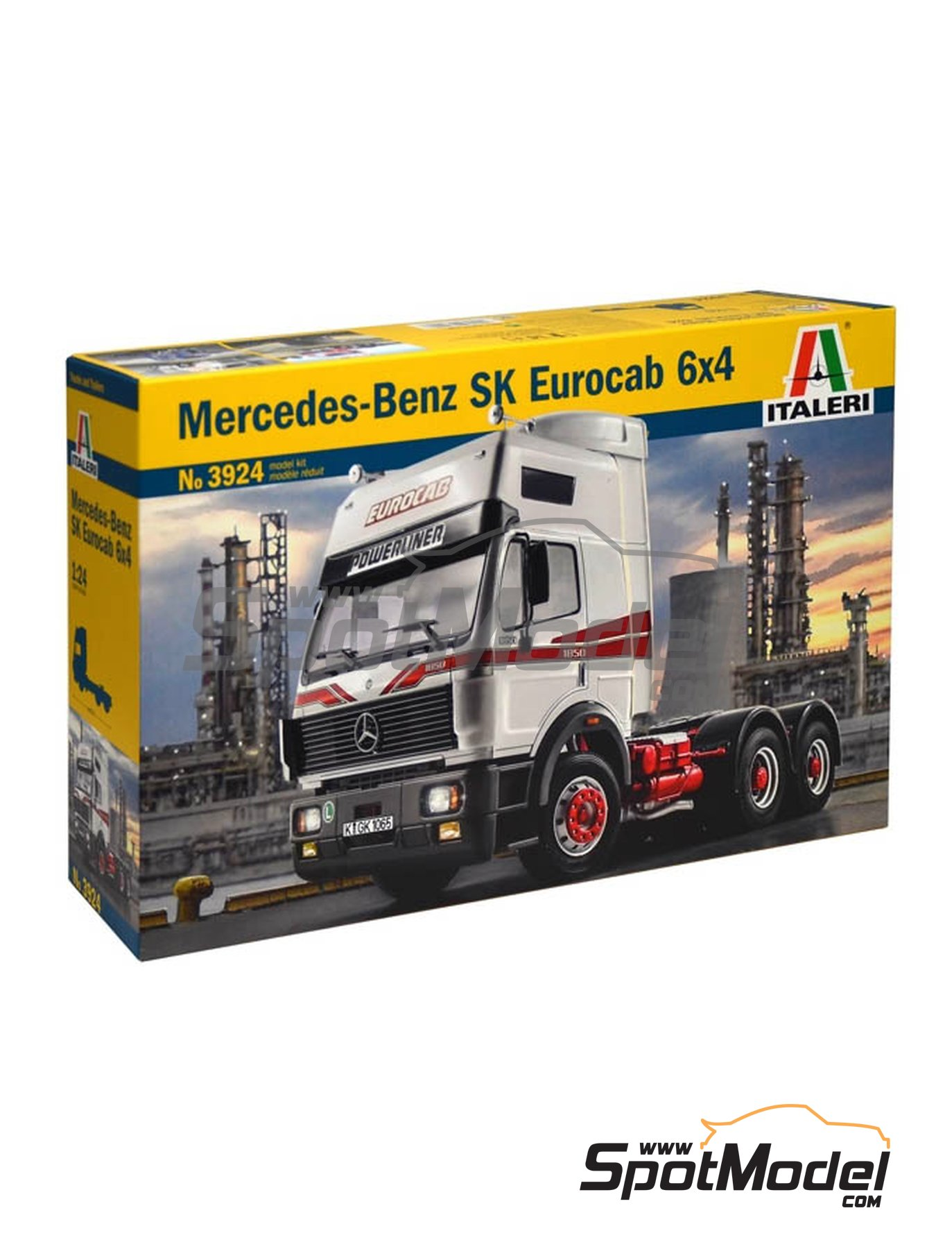 Mercedes Benz SK Eurocab 6x4 | Model truck kit in 1/24 scale manufactured by Italeri (ref. 3924) image