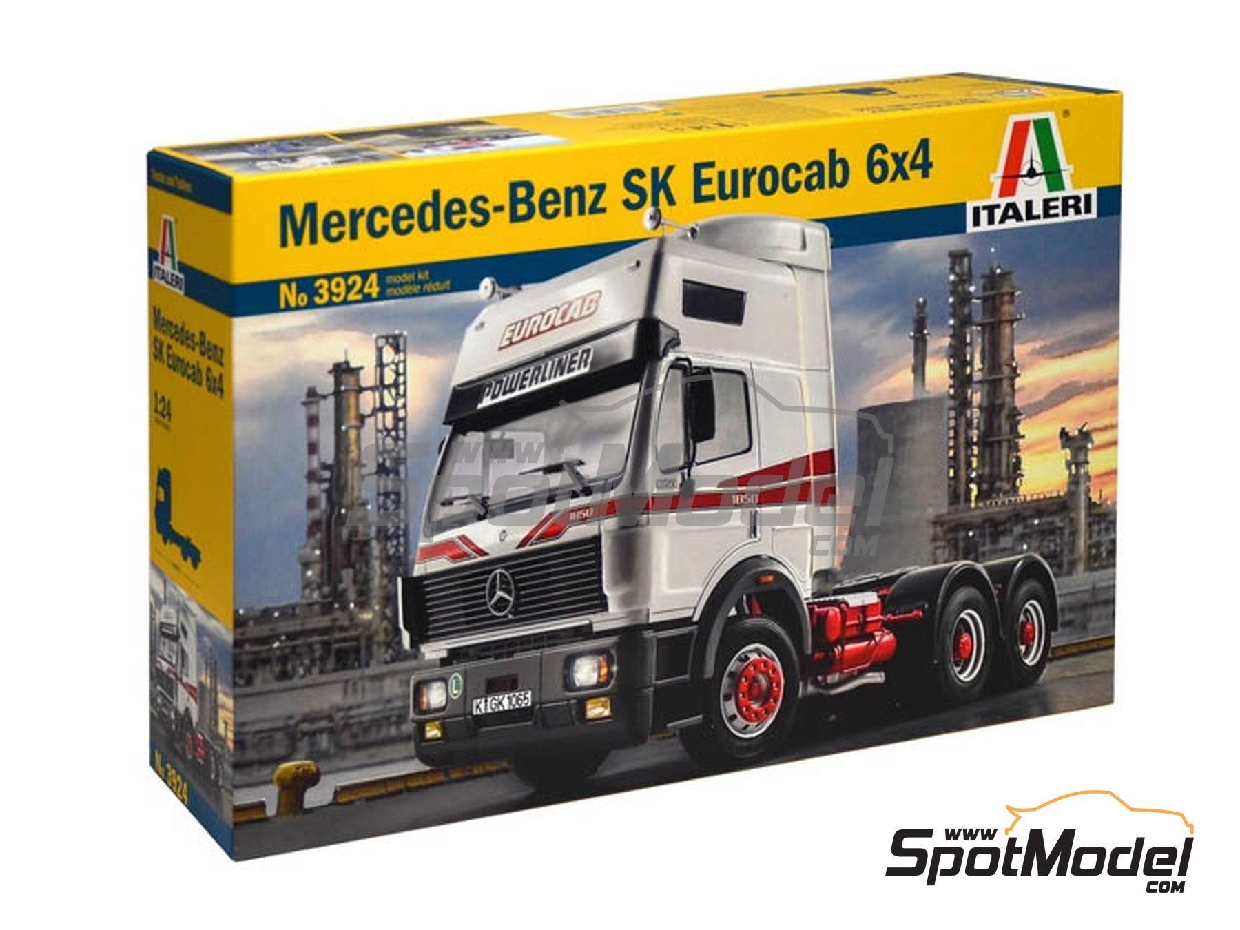 Image 1: Mercedes Benz SK Eurocab 6x4 | Model truck kit in 1/24 scale manufactured by Italeri (ref. 3924)