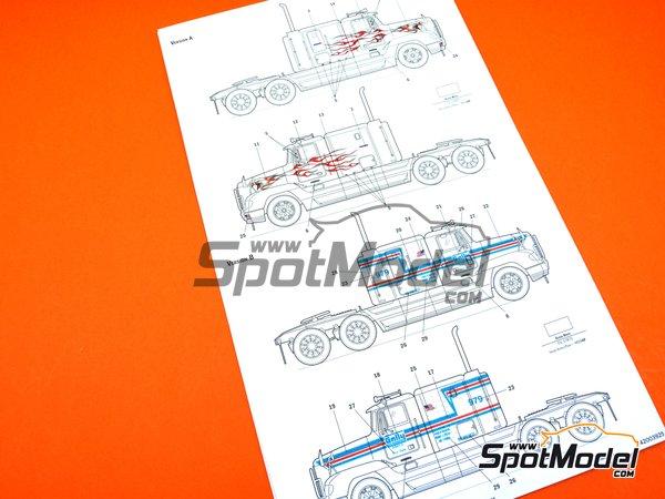 Image 14: Freightliner FLD 120 Special | Maqueta de camión en escala1/24 fabricado por Italeri (ref.3925)