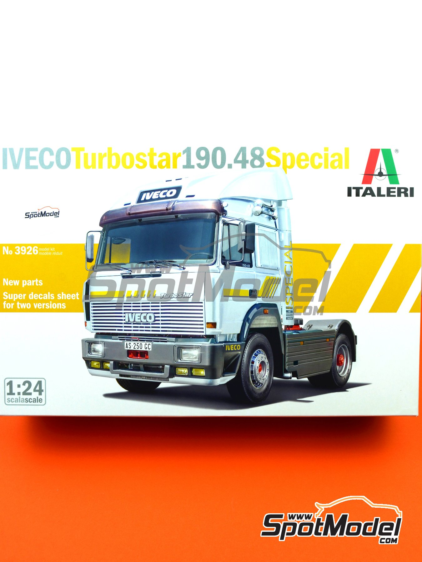 Iveco Turbostar 190.48 Special | Model truck kit in 1/24 scale manufactured by Italeri (ref. 3926) image