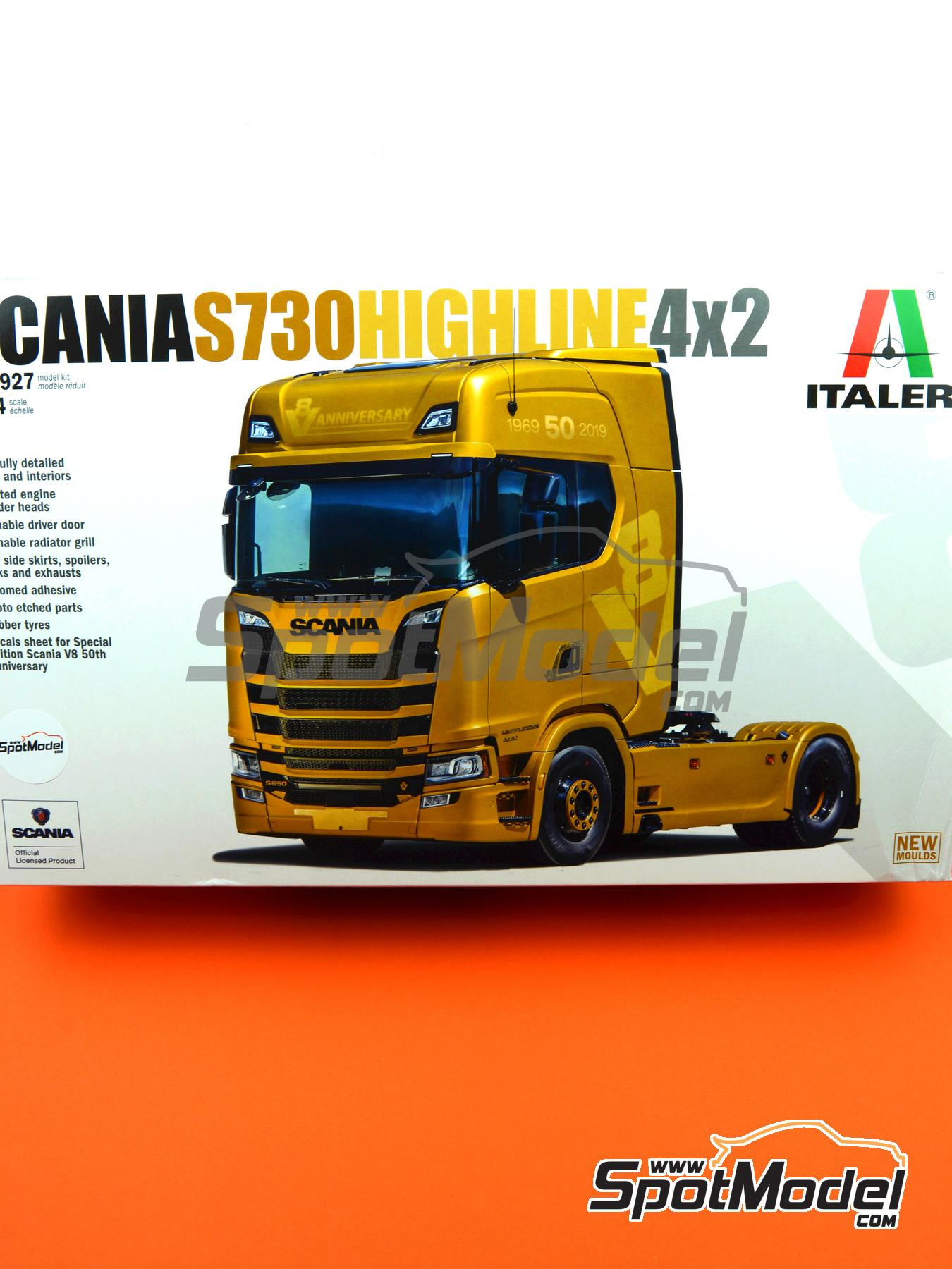 Scania S730 Highline 4x2 | Model truck kit in 1/24 scale manufactured by Italeri (ref. 3927) image