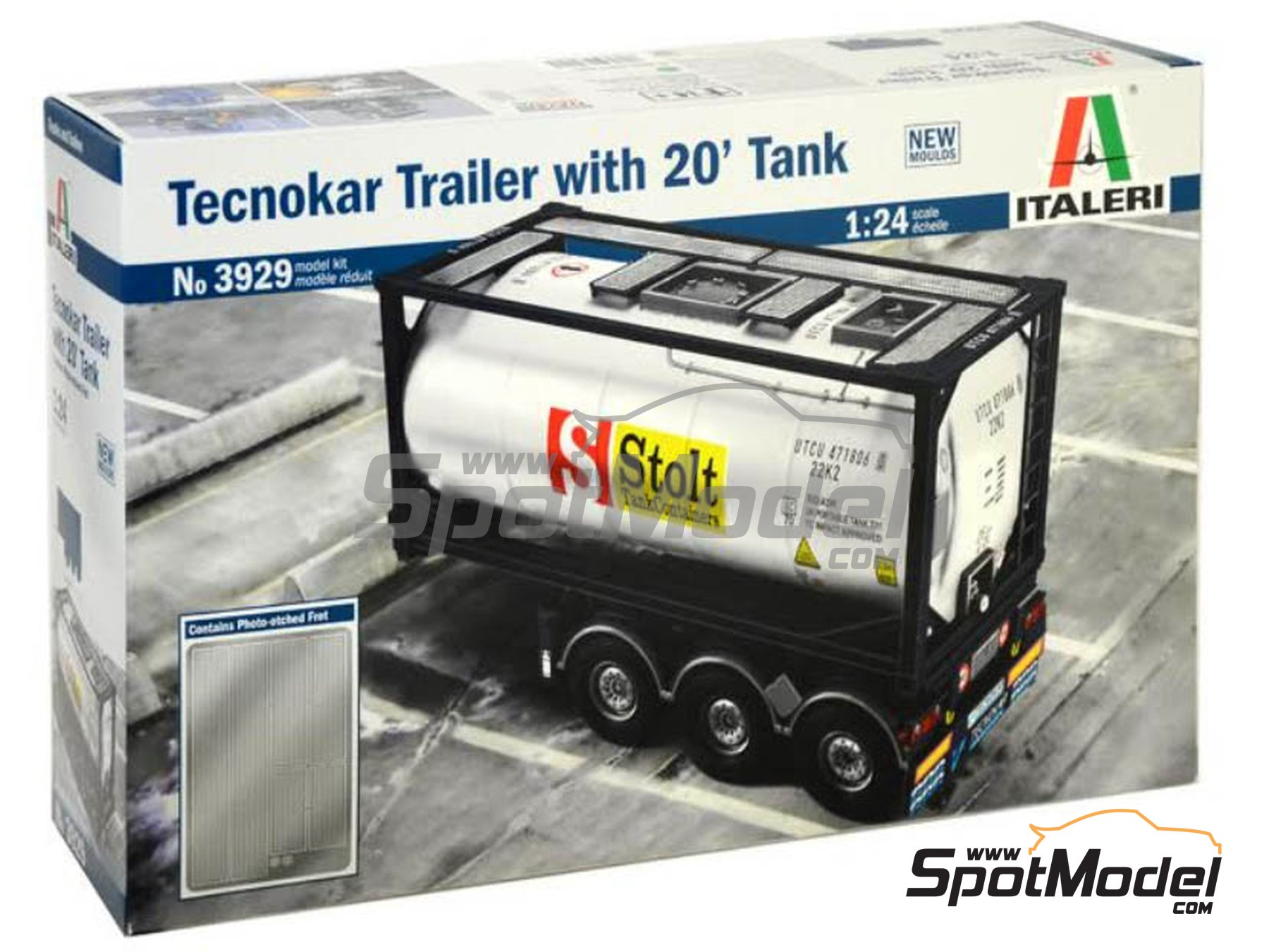 Image 7: Tecnokar 20' | Trailer kit in 1/24 scale manufactured by Italeri (ref. 3929)