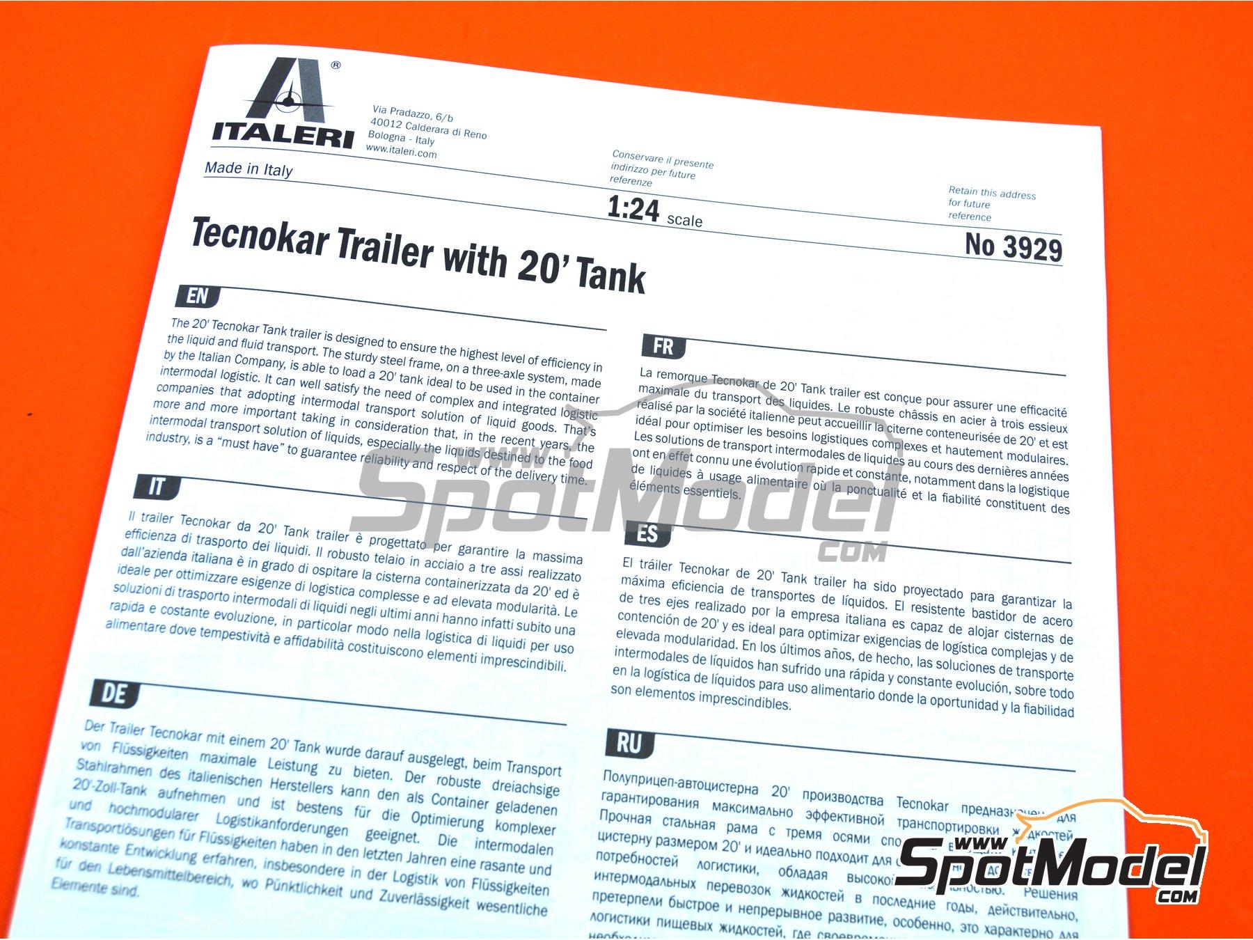 Image 18: Tecnokar 20' | Trailer kit in 1/24 scale manufactured by Italeri (ref.3929)