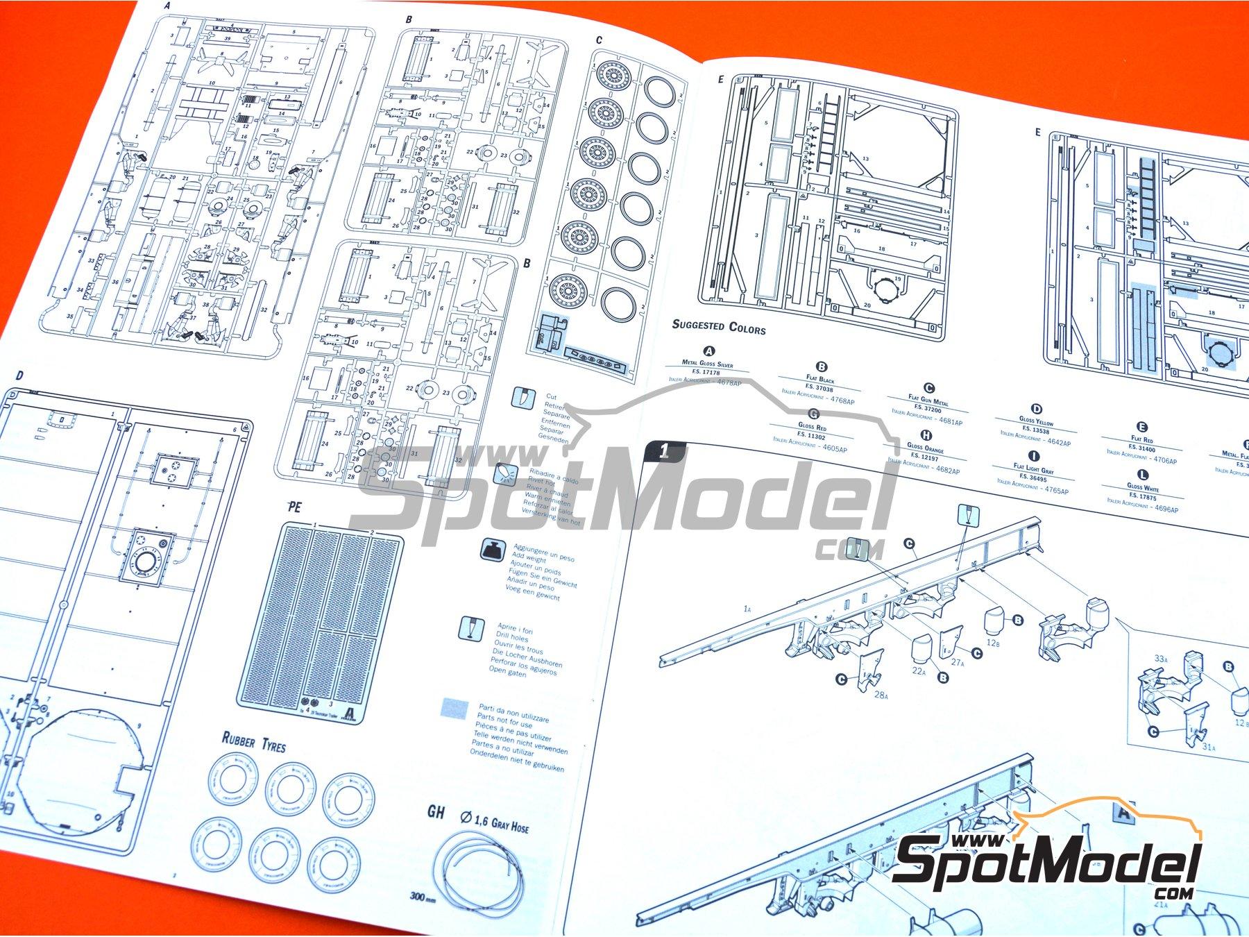 Image 19: Tecnokar 20' | Trailer kit in 1/24 scale manufactured by Italeri (ref.3929)