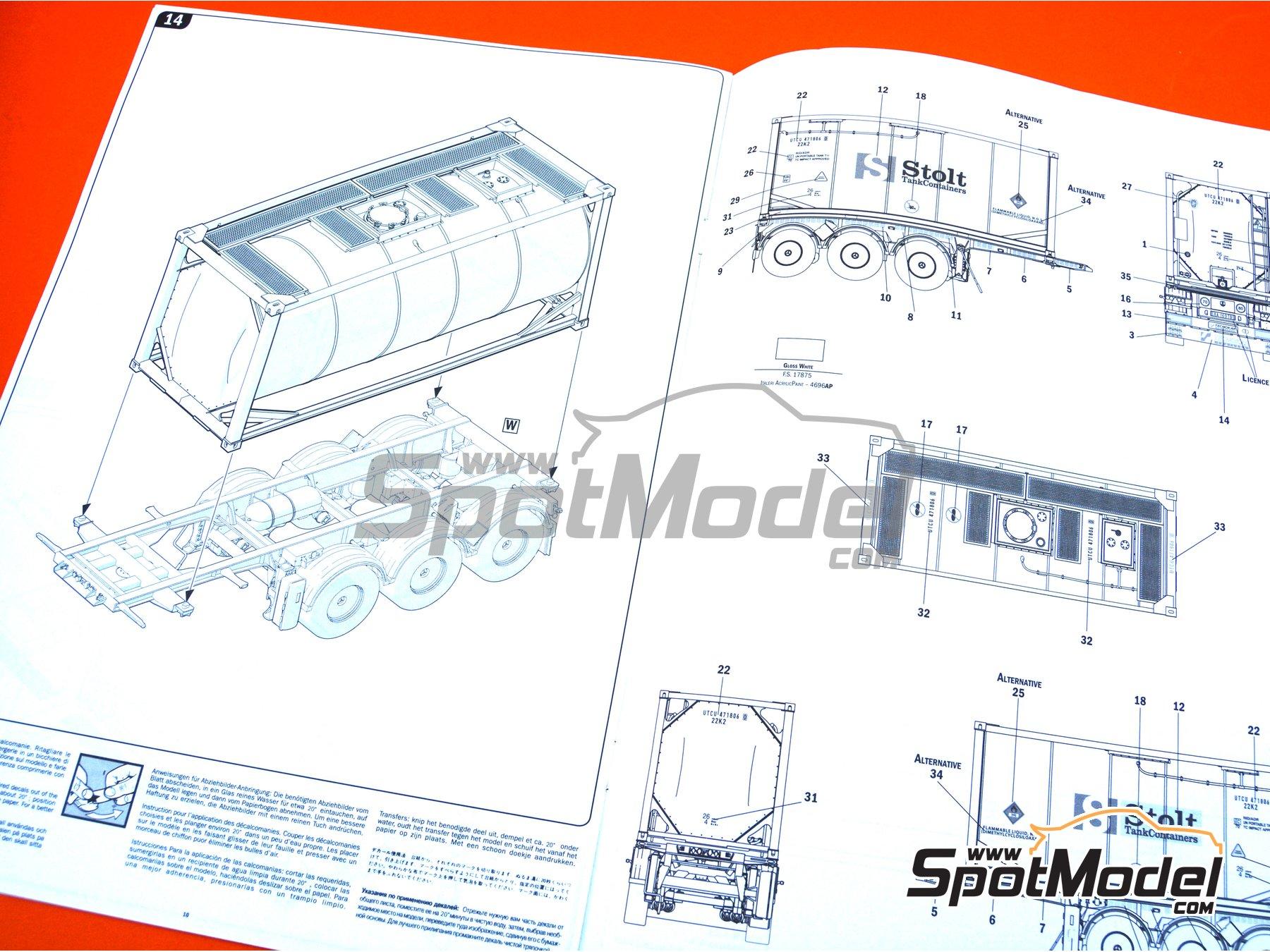 Image 21: Tecnokar 20' | Trailer kit in 1/24 scale manufactured by Italeri (ref.3929)