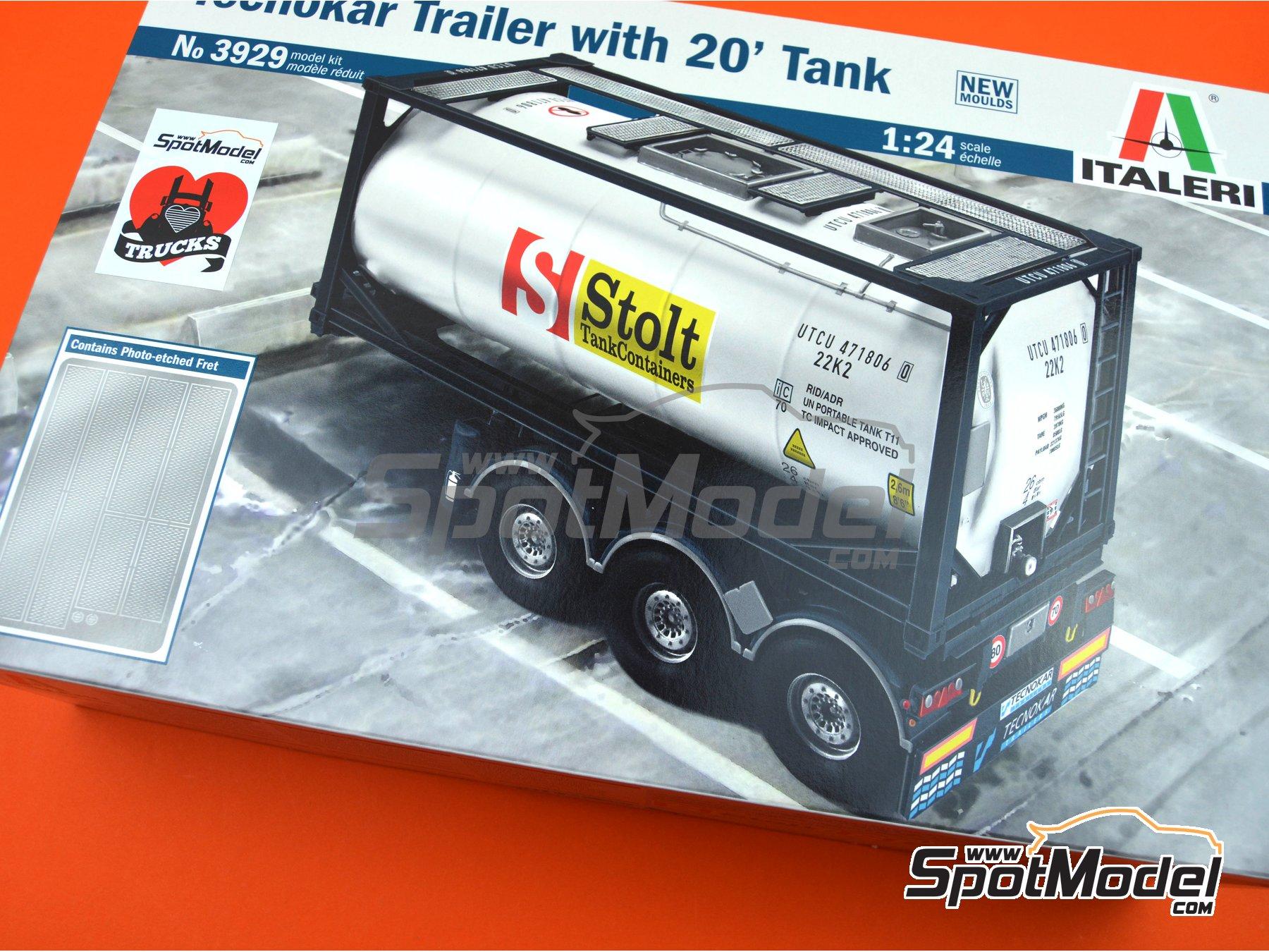 Image 25: Tecnokar 20' | Trailer kit in 1/24 scale manufactured by Italeri (ref.3929)