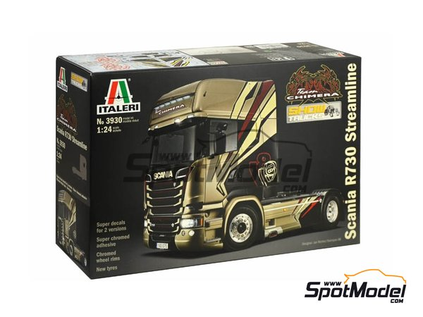 Image 2: Scania R730 V8 Streamline | Model truck kit in 1/24 scale manufactured by Italeri (ref. 3930)