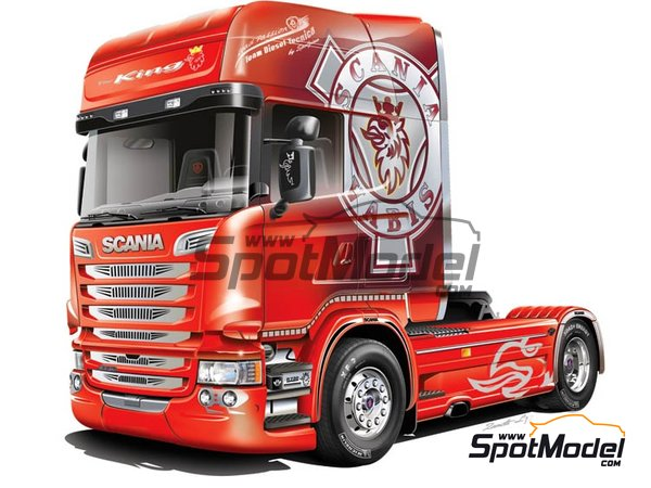 Image 5: Scania R730 V8 Streamline | Model truck kit in 1/24 scale manufactured by Italeri (ref. 3930)