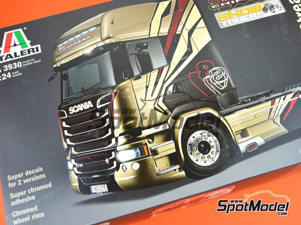 Image 31: Scania R730 V8 Streamline | Model truck kit in 1/24 scale manufactured by Italeri (ref. 3930)
