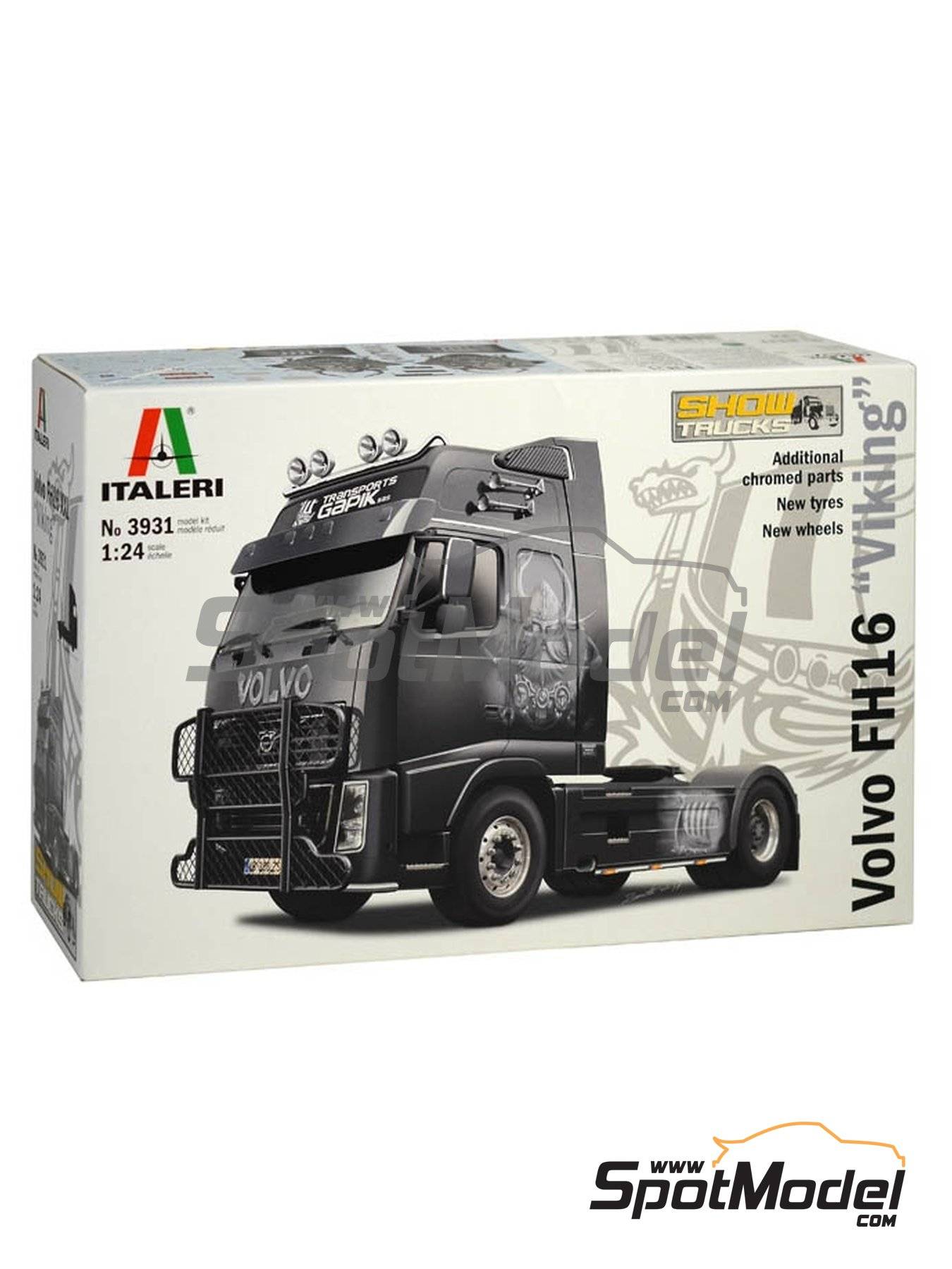 Volvo FH16 | Model truck kit in 1/24 scale manufactured by Italeri (ref. 3931) image
