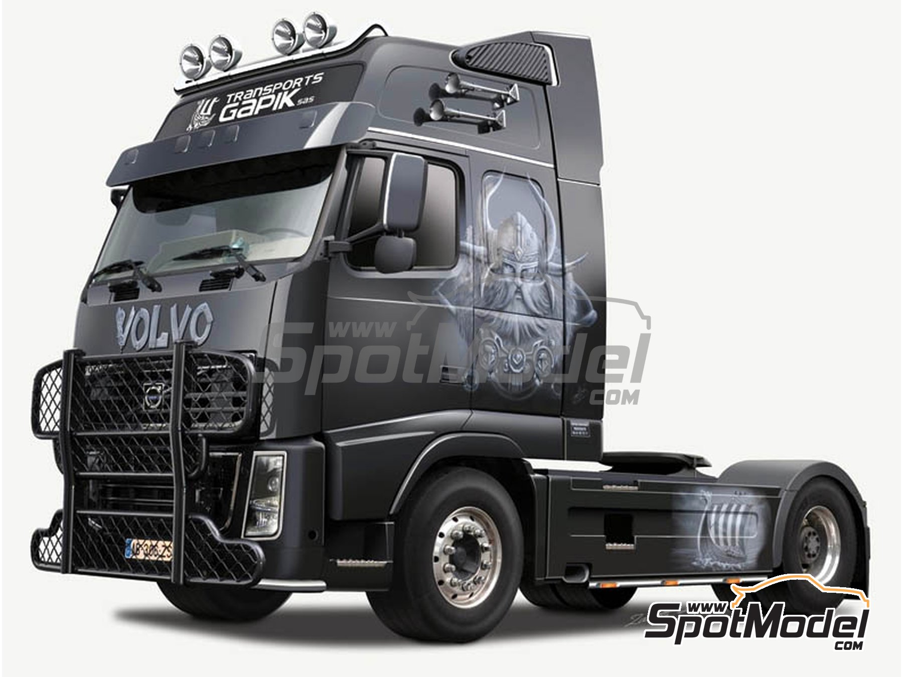 Image 16: Volvo FH16 | Model truck kit in 1/24 scale manufactured by Italeri (ref. 3931)