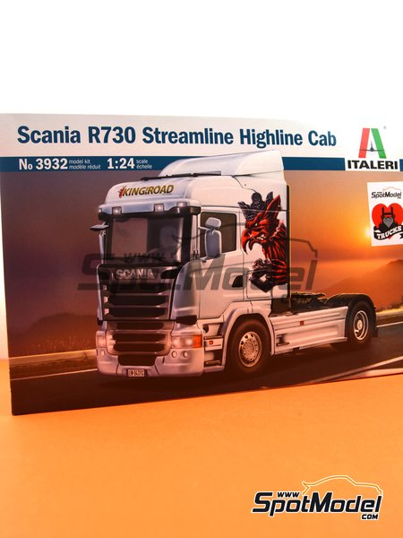 Scania R730 Streamline Highline Cab | Model truck kit in 1/24 scale manufactured by Italeri (ref. 3932) image