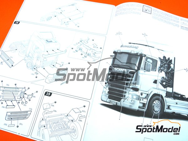 Image 9: Scania R730 Streamline Highline Cab | Model truck kit in 1/24 scale manufactured by Italeri (ref.3932)