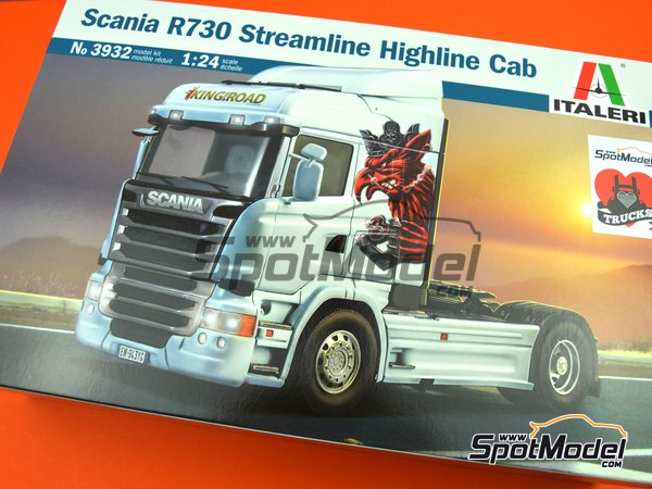 Image 11: Scania R730 Streamline Highline Cab | Model truck kit in 1/24 scale manufactured by Italeri (ref.3932)