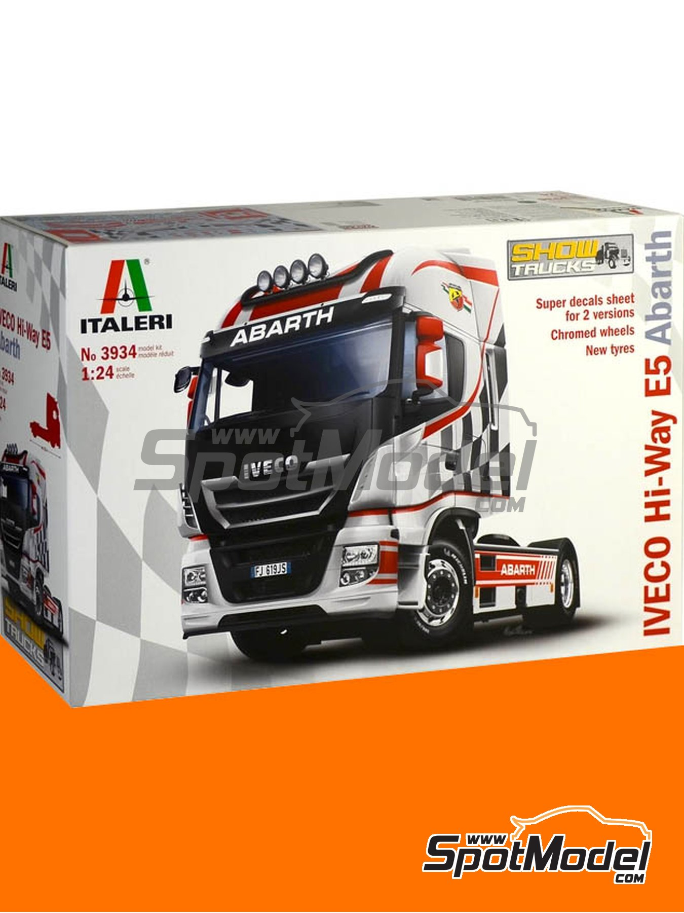 Iveco Stralis 560 Hi-Way Euro 5 Abarth | Model truck kit in 1/24 scale manufactured by Italeri (ref. 3934) image
