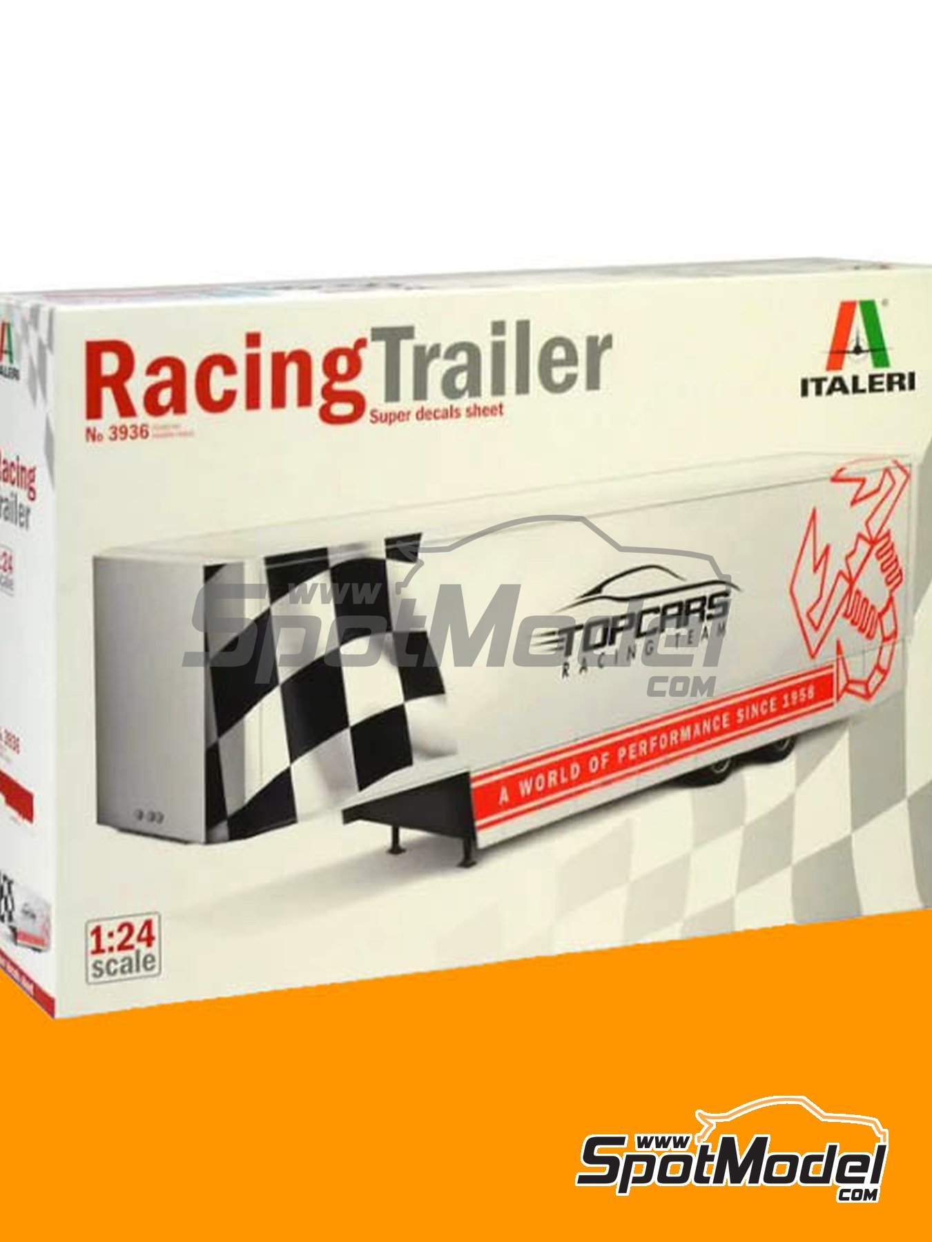 Racing trailer | Model truck kit in 1/24 scale manufactured by Italeri (ref. 3936) image
