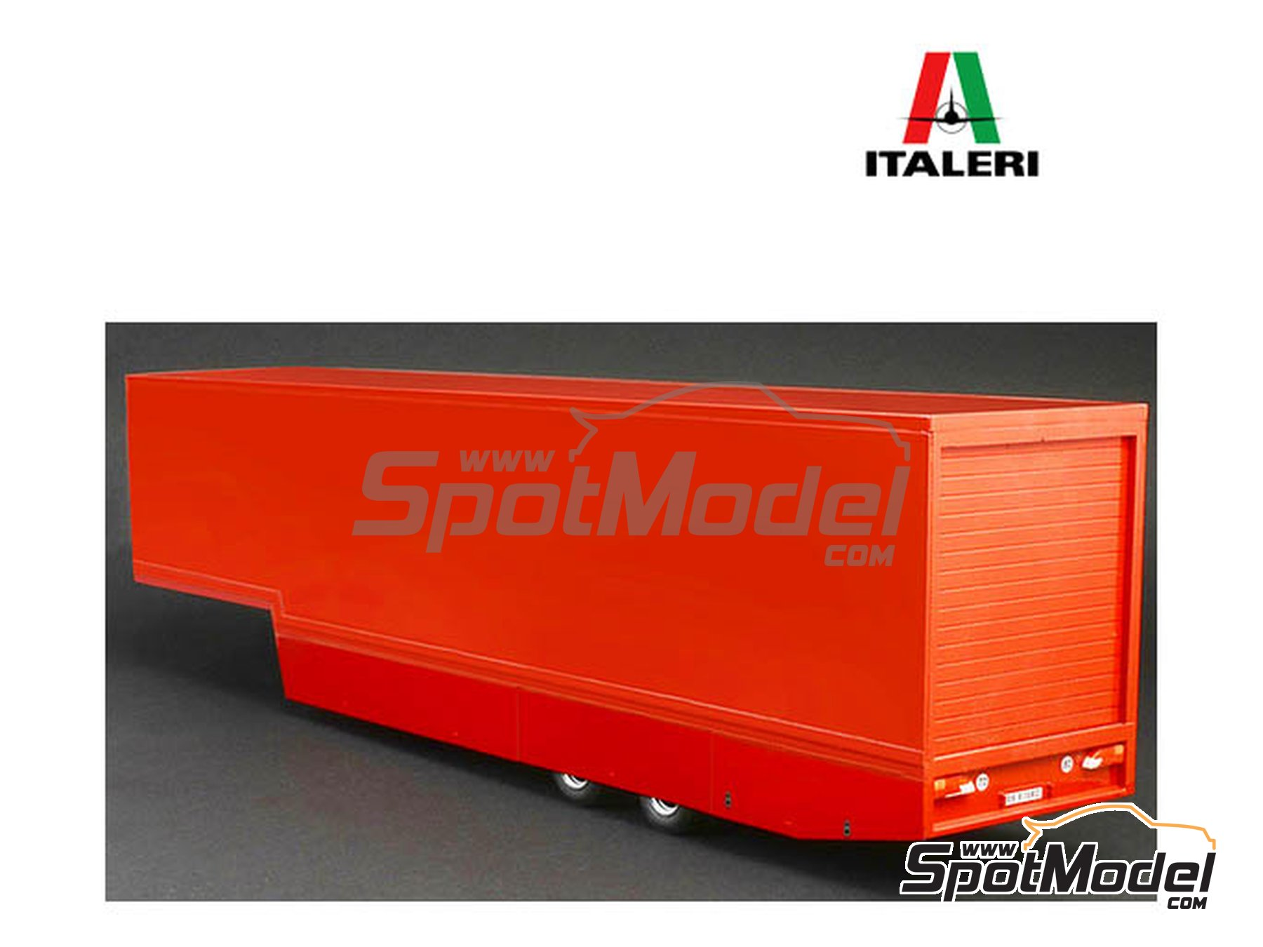 Image 1: Racing trailer | Model truck kit in 1/24 scale manufactured by Italeri (ref. 3936)