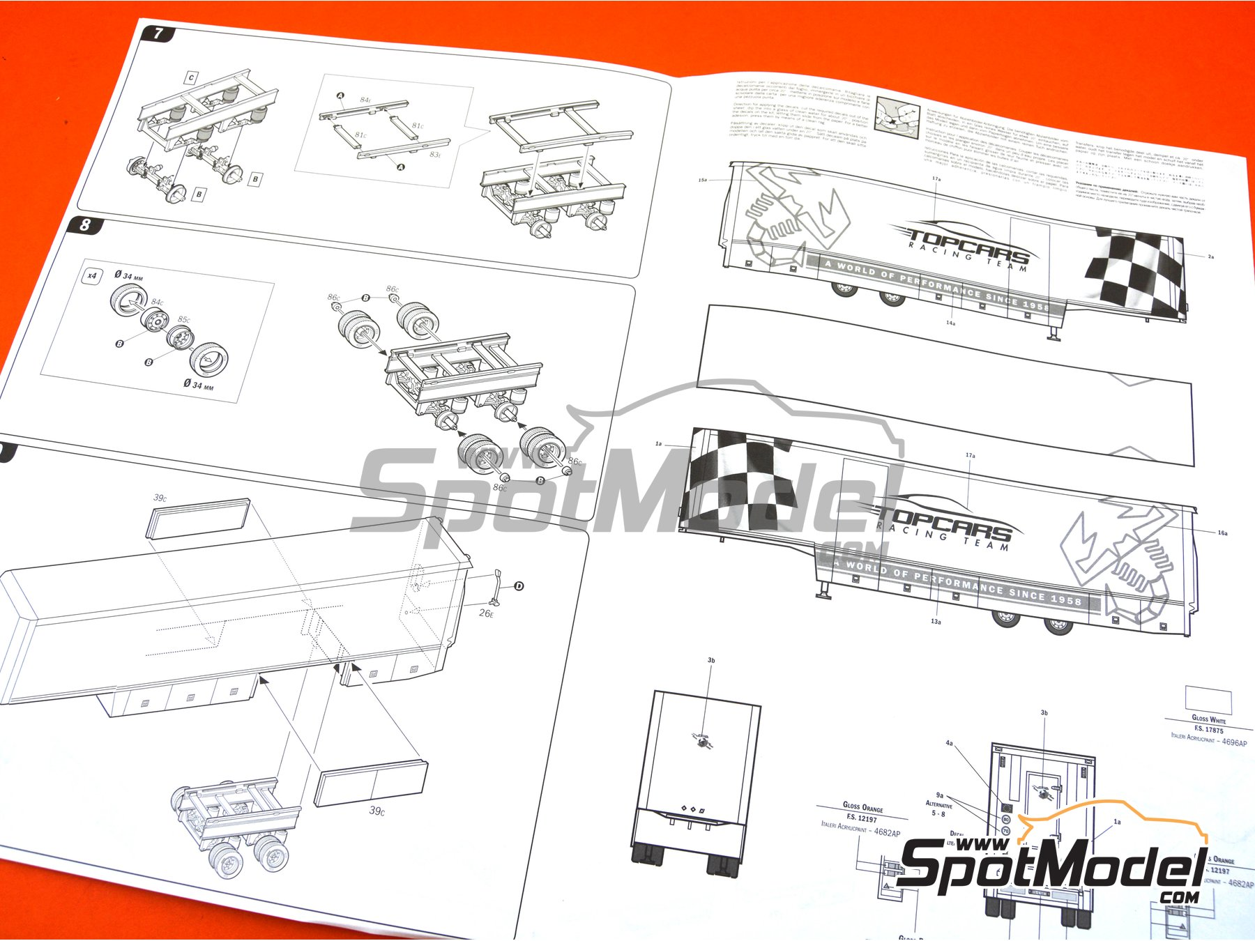 Image 12: Racing trailer | Model truck kit in 1/24 scale manufactured by Italeri (ref. 3936)