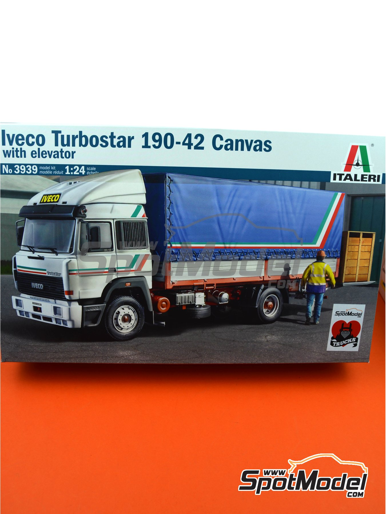 Iveco Turbostar 190.42 Canvas | Model kit in 1/24 scale manufactured by Italeri (ref.3939, also 3939S and ITA3939) image
