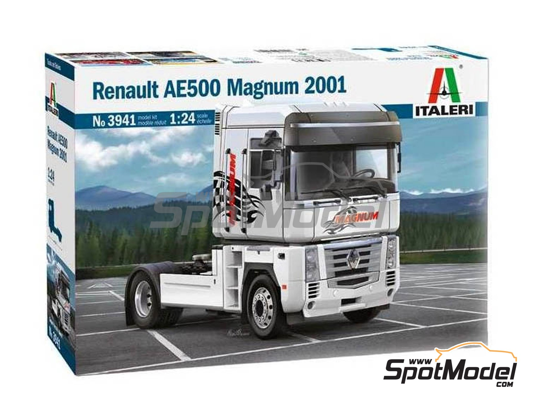 Image 1: Renault AE 500 Magnum -  2001 | Model truck kit in 1/24 scale manufactured by Italeri (ref. 3941, also ITA3941, CO_33-3941 and IT3941)