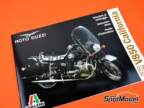 Image 24: Moto Guzzi V850 California | Model bike kit in 1/6 scale manufactured by Italeri (ref.4513)